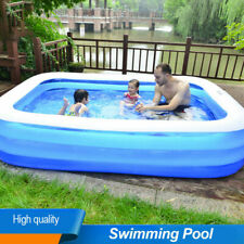 Us Thickened Rectangular Inflatable Pool Swimming Family Kids Childs Home Garden