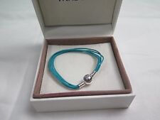 New Pandora TEAL Large Multi Strand Cord Bracelet 590715CTUM M3 Gift set option
