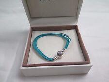 New Pandora TEAL Large Multi Strand Cord Bracelet 590715CTUM M3 Gift set option