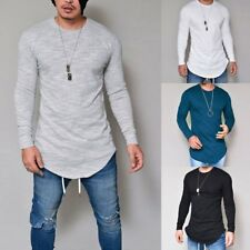 Fashion Mens Casual Long Sleeve Shirts Formal Slim Fit Shirt Tops Blouse T-Shirt