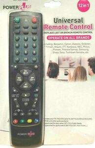 12 in 1 Universal Remote Control TV VCR DVD Satellite Cable CD Player AUX