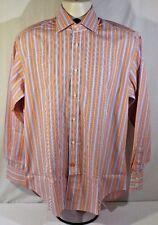 Thomas Dean Long Sleeve Size Medium Flip Cuff 100% Cotton
