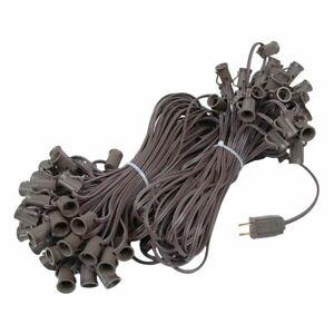 100 Ft C7 Christmas Light Stringer BROWN Wire Indoor/Outdoor Patio 100-Socket