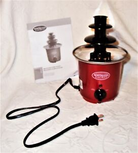 Retro Series Nostalgia Electrics 50's Chocolate Fondue Fountain CFF300 Open Box