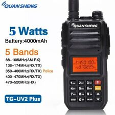 QuanSheng TG-UV2 Plus 5W 5 Bands Walkie Talkie 10KM Range Ham Two Way Radio