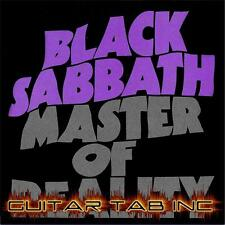 Black Sabbath Guitar Tab MASTER OF REALITY Lessons on Disc Ozzy