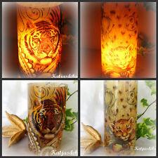 Windlicht Tischdeko Afrika Tiger Baby 2 Motiven rund Wilde Tiere Raubkatze Deko