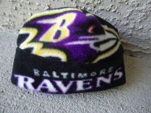 NFL Baltimore Ravens Fleece Hat sz Newborn Baby Boys, Girls, Children, Adult Men