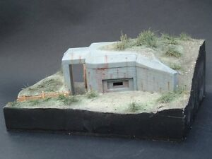 WW II MACHINE GUN BUNKER 1/35 MIRAGE RARITAT!