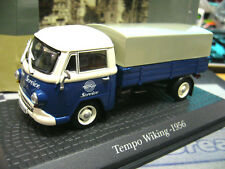 TEMPO Wiking LKW Transporter Pritsche Plane blau Service PremCl. Atlas 1:43