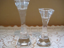 Set Of Two Villeroy & Boch Lead Crystal Candlesticks