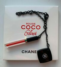 CHANEL charm on chain key with small mirror rouge coco gloss BNIB VIP GIFT