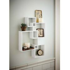 Large Floating Shelf Wall Mount Home Square Shelves Display Storage White