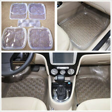 High Quality 5x Car Auto Floor Mat Clear PVC Foot Pads Fit All Weather Rugs Set