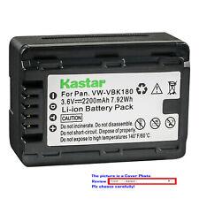 Kastar Replacement Battery Pack for Panasonic VW-VBK180 SDR-S70 SDR-S70K SDR-T50