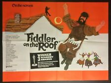 FIDDLER ON THE ROOF - Original Cinema UK Quad Movie POSTER 1971 + Awards Add-on