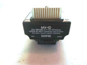 Sunpak MX-1D ~ Interface Module for Minolta X-7, XD, XG Series Leica R4-Mot.