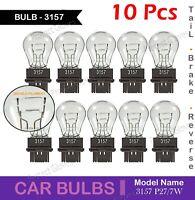 10X 3157 Daytime Running Bulbs Halogen Brake Stop Tail Signal Light Bulbs P27/7W
