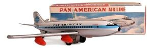 Pan American clipper tin friction airplaine from Haji-Vintage Tin Toy