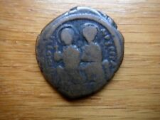 Byzatine Coin  Undeterminded Date  Very Old Constantinople Coin