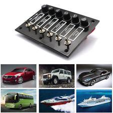 6 Gang Switch Panel Fused Marine Rocker switch Panel for Boats Caravans Car 12V