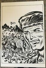 Planche Originale dessinée par Guy Dedecker sur Blek le roc et Indiens