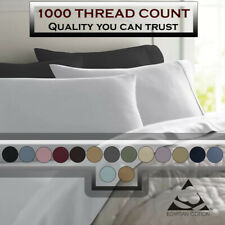Deluxe Ultra Soft 1000 Thread Count 100% Pure Cotton Solid PILLOWCASES