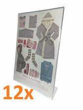 12x A4 Perspex Single Sided Menu/Sign Holder