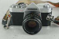 Konica Autoreflex A3 Film Camera with Lense Hexanon AR 52mm F1.8