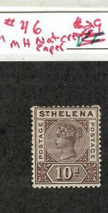 ST HELENA Scott #46  MLH OG F/VF for issue, sound stamp!