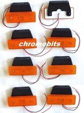 8 x LED Side Marker Lights 12V Orange Amber Indicator Truck Lorry Bus Trailer