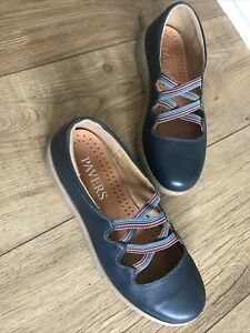 Pavers Ladies Shoes. 37 (4) Blue Leather . Exc Cond