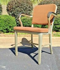 Goodform Mid Century Industrial ALUMINUM Brown Arm Chair ~ 1963
