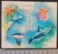 Togo 2013 marine life dolphin tuna jellyfish stingray s/sheet mnh