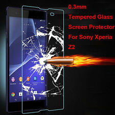 New Premium Real Tempered Glass Screen Protector Film Guard For Sony Xperia Z2
