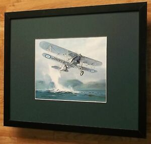 Hawker Horsley - Michael Turner - aircraft & warplane print -20''x16'' frame