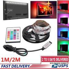 1/2M RGB LED Light Strip Bar TV Room Background Computer Decor USB Remote Contro