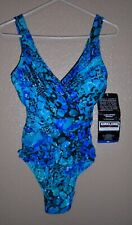 Kirkland By Miraclesuit One Piece Swimsuit Multi Blue Pattern Size 10  NWT