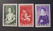 "GERMANIA,Germany SARRE SAAR 1954 "" Beneficenza .Quadri Celebri "" 3V.Cpl set MH*"