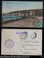 ITALY 592 NAPOLI -1910 Via Caraccilo con pescatori che tirano la rete