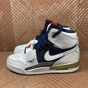 Air Jordan Legacy 312 Olympic GS White-Midnight Navy-Varsity Red/Gold Youth 5Y