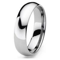 Tungsten Mens / Women Polish 6MM Wedding Band Ring Never Tarnish All Size R110