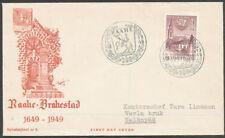 Finland 1949 FDC 25mk - Raahe - Brahestad - 300 years - Finnish cities