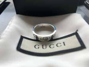 Gucci Ghost Skull Ring Silver 925 Made In Italy Size 17