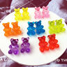 Cute Cartoon Bear Stud Earrings Candy Color Resina Mujeres Niñas Joyas