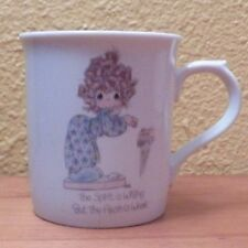"""Precious Moments Mug Cup by Enesco """"The Spirit is Willing but the Flesh is Weak"""""""