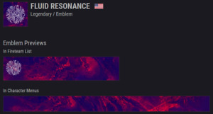 Destiny 2 Fluid Resonance Emblem | 100% Guaranteed Instant Delivery | PS/XB/PC