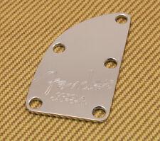 005-8329-000 Fender Bass American Dlx Chrome 5 Bolt Logo Corona CA Neck Plate