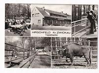 uralte AK Hirschfeld Kreis Zwickau Tierpark Bison Esel Gaststätte 1976 //01