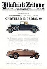 Chrysler Imperial 80 XL Reklame 1928 Werbung
